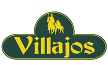 Villajos' logo: Manchego cheese with Denomination of origin and extra virgin olive oil