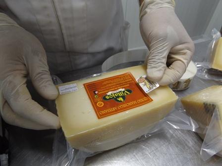 Elaboración del queso manchego, contraetiqueta