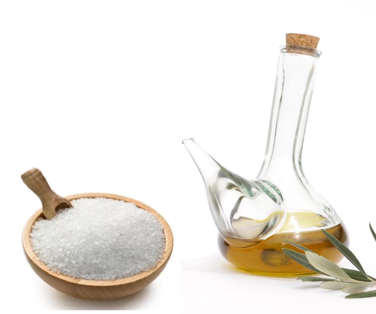 Aceite de oliva y sal